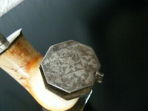 antike Biedermeier-Meerschaum-Pfeife+ Silber-Montur-sehr schönes Sammlerstück