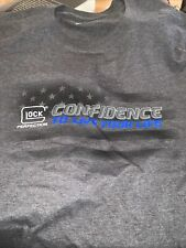 GLOCK CONFIDENCE To Live Your Life Blue Line  Leo Police  Perfection SHIRT (L)