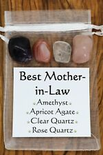 Best Mother-in-Law Crystal Gift Set Rose Clear Quartz Amethyst Apricot Agate