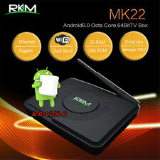 RKM MK22 S912 Octa core 64bit Android 6.0 4K Smart TV Media BOX WIFI HDMI BT VP9