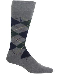 POLO RALPH LAUREN Men's Wool Blend Argyle Boot Sock NWT