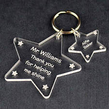 Personalised Teacher Gift Thank You End of Term Leaving Present School Keyring