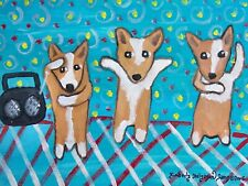 PEMBROKE WELSH CORGI Corgis Vogue Dog Pop Folk Outsider Art 8 x 10 Giclee Print