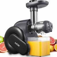 Juicer Machine, Aicok Slow Masticating Juicer with Reverse Function, Cold Press