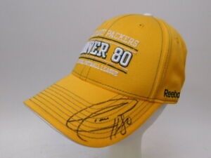 Autographed Green Bay Packers Donald Driver Yellow baseball Hat (#120)