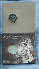2013 ROYAL MINT HM THE QUEEN'S CORONATION 60TH ANN FIVE POUNDS £5 T-948