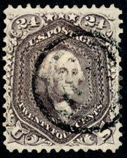 USA scott 78, 24c LILAC, 1861, FU, CV$350