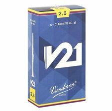 Vandoren V21 Clarinet Reeds Strength 2.5 (box of 10 Reeds)