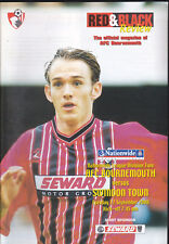 2000/01 BOURNEMOUTH V SWINDON TOWN 12-09-2000 Division 2