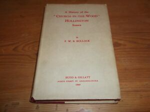 Book A History of Church-in-the-Wood Hollington Sussex Bullock Authors Bookplate