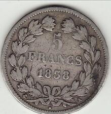 5 FRANCS LOUIS PHILIPPE TETE LAUREE 1838 A