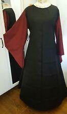 Mittelalterliches  Kleid Larp Gr.46 48 50 Leinen  Mittelalter Gothic Schwarz