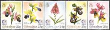 Gibilterra 1995 Singapore' 95/Orchidee/Fiori/Piante/NATURA/stampex 5v STP s6392m