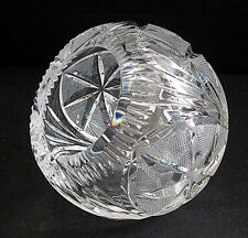 Cut Crystal Rose Bowl Angled Top Sugar Sphere Dish