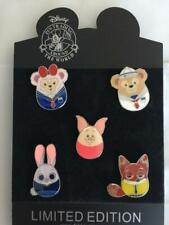 Disney Trading Pins Set Duffy-Sallie Piglet Judy & Nick 5 Pins Shown-Us Seller