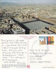 1989 AERIAL VIEW OF MEXICO CITY MEXICO COLOUR POSTCARD