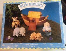 Hallmark Merry Miniatures Noah & Friends 5 Piece Set In Original Box