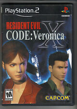 RESIDENT EVIL CODE: VERONICA X ORIGINAL PS2 PLAYSTATION 2 GAME code