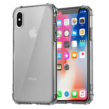 For iPhone XS Max XR X Shockproof Bumper Transparent Clear Silicone Case Cover