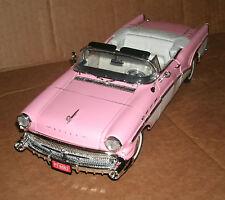 1/18 Scale 1957 Buick Roadmaster Diecast Model - Pink Convertible MotorMax 73152