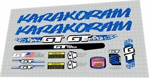 1991 GT KARAKORAM  DECAL SET
