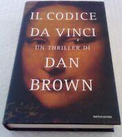LIBRO ROMANZO THRILLER CULT DAN BROWN,IL CODICE DA VINCI,1 EDIZIONE 2003 louvre
