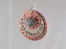 We Love You A Bushel & A Peck Necklace Copper Sterling Heart Custom Personalized