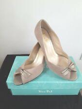 Van Dal Heydon Almond Suede Peep Toe Court Shoe - UK Size 6 Width EE