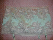NWT VICTORIA SECRET SEXY GARTER SKIRT M THONGS GREEN IVORY SEDUCTION SOLD OUT