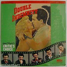 Double Indemnity Billy Wilder Barbara Stanwyck Fred MacMurray Laserdisc New