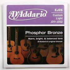 D'Addario EJ26 Guitarra Acústica Cuerdas 11-52