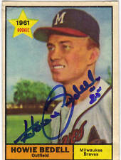1961 Topps #353 HOWIE BEDELL autographed card