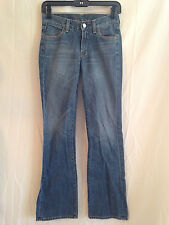 7 FOR ALL MANKIND MEDIUM WASH STRAIGHT LEG JEANS SIZE 25 X 32""