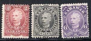 SARAWAK -MALAYSIA- 1895 STAMP Sc. # 28/30 MNG