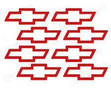 8 * Emblem Chevy Bow Tie Die Cut Decals Stickers Vinyl Self Adhesive Logo (№205)