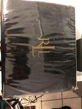 Ralph Lauren King Pinstripe Bed Skirt Navy Blue White Stripe Dust Ruffle Lauren