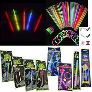 Glow Sticks Bracelets Necklaces Crown Tiara Neon Colors Party Favors Disco Rave