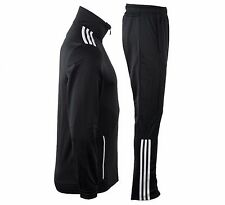 NWT Adidas MENS Gym Fitness Entry Tracksuit Jacket Pants Black/White Size XL