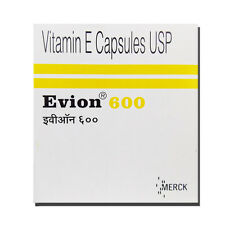 Vitamin E 600 mg Capsules For Face Hair Acne Nails NEW EVION 100 Caps Exp 2020
