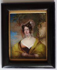 Miniature portrait-Victorian Lady-Excellent état-Mme Wilkinson-navire ST