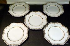 RARE ANTIQUE SPODE FELSPAR PORCELAIN EARLY 19TH CENT0 ~.5 DINNER PLATES ~  9 1/4