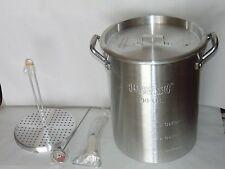 Aluminum Turkey Deep Fryer 30 QT Pot Kit W/ Thermometer Rack & Hook