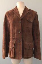 Lauren By Ralph Lauren Dry Goods Supply Co. Brown Suede Leather Jacket Medium