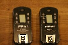 2X Yongnuo RF605C - RF605 - RF-605 Flash Trigger transceiver for Canon