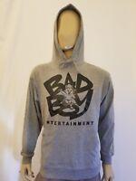 Bad Boy Entertainment  Gray Jersey T-shirt Hoodie Biggie Smalls Notorious Hoody