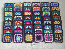 """(Lot 198) New 48 Vintage Style Crochet Afghan Throw 4"""" Appox Granny  Squares"""