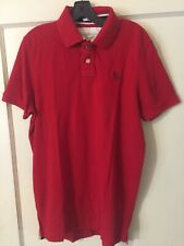 Mens Vintage Abercrombie & Fitch A&F Muscle Red Golf Polo Shirt Size 2XL