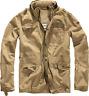 Brandit Abrigo para Hombre Ejército Militar Britannia Chaqueta de Campo Vintage