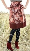 Anthropologie Elevenses Floral Cotton Skirt Pink Helenium Field A Line SZ 6