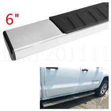 "For 01-17 Silverado Crew Cab 6"" OE Style Aluminum Running Boards Glossy Silver"